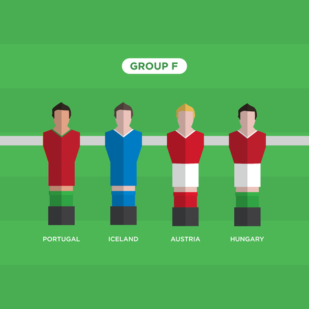 groupe: Table Football (Soccer) players, France 2016, group F.