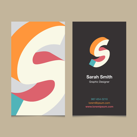 """Logo alphabet letter """"S"""", with business card template. Vector graphic design elements for company logo. Logo"""