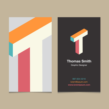 """Logo alphabet letter """"T"""", with business card template. Vector graphic design elements for company logo. ЛОГОТИПЫ"""