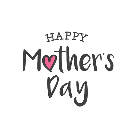 mother day: Happy mothers day card. Editable logo vector design.