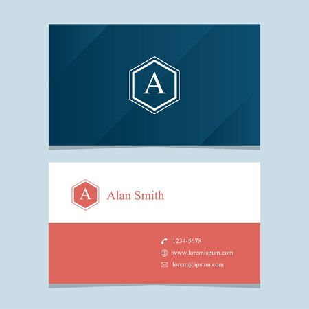 lawyers: alphabet letter A, with business card template. Vector graphic design elements for company .