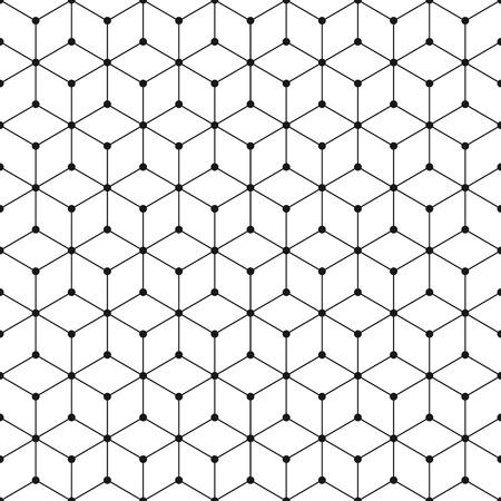 Cube et dot pattern background. Rétro élément de dessin vectoriel. Vecteurs