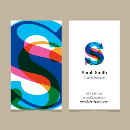 """Logo alfabet letter """"s"""", met visitekaartje sjabloon. Vector grafisch ontwerp elementen voor bedrijfslogo. Logo"""