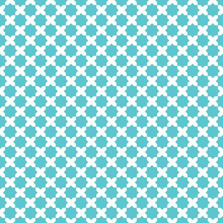 Marocaine croix étoiles motif de fond. Rétro élément de dessin vectoriel.