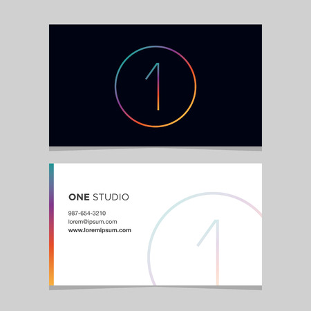 one hundred and ten: Logo number 1, with business card template. Vector graphic design elements for company logo.
