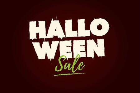 Halloween Sale text . Editable vector design.
