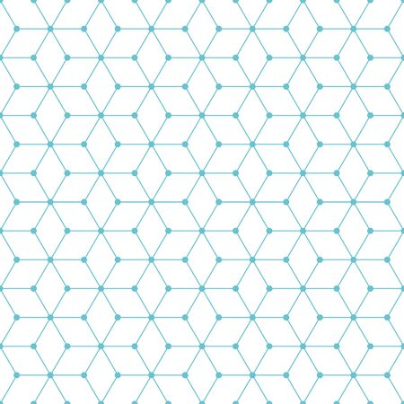 Cube and dot pattern background. Vintage retro vector design element.
