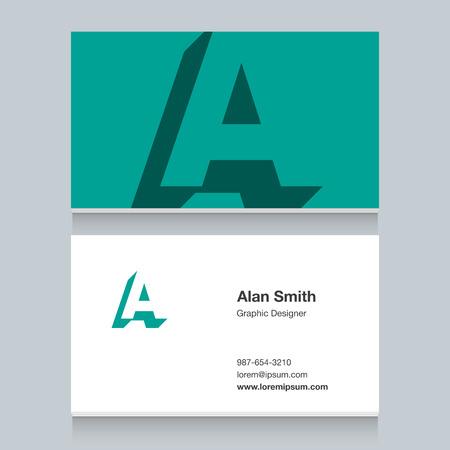 Logo alphabet letter of A Illustration
