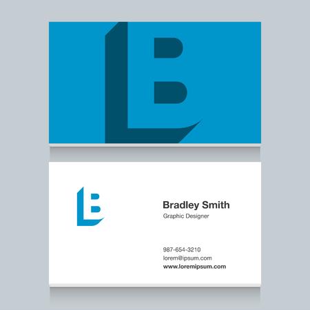 Logo alphabet letter of B Illustration
