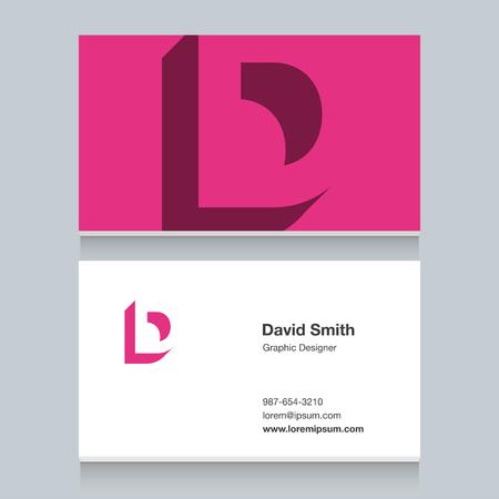 Logo alphabet letter of D Illustration