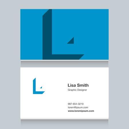 Logo alphabet letter of L Illustration