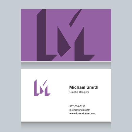 Logo alphabet letter of M Illustration