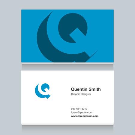 Logo alphabet letter of Q Illustration