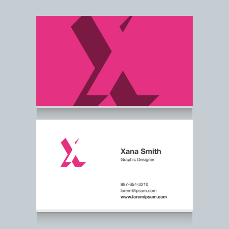 Icon of alphabet letter for cards - letter x Illustration