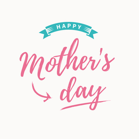 Happy mothers day card template Illustration