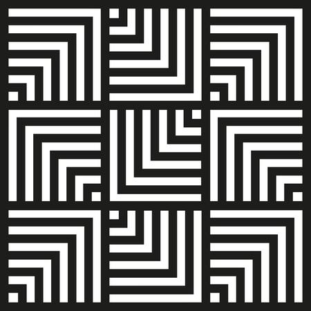 Chevron square pattern background. Vintage retro vector design element. Illustration
