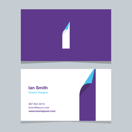 Alphabet letter I , with business card template. Vector graphic elements design for company . 向量圖像