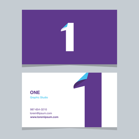 Logo number 1, with business card template.
