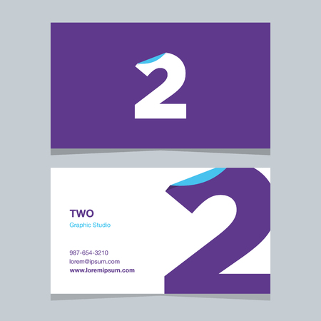 Logo number 2, with business card template.