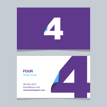 Logo number 4, with business card template.