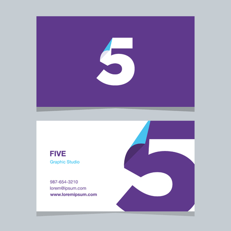 Logo number 5, with business card template.