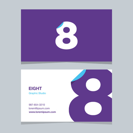 Logo number 8, with business card template.