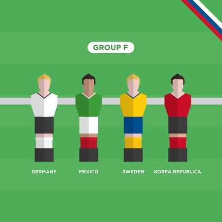 Football Table (Soccer) players. Editable vector design.