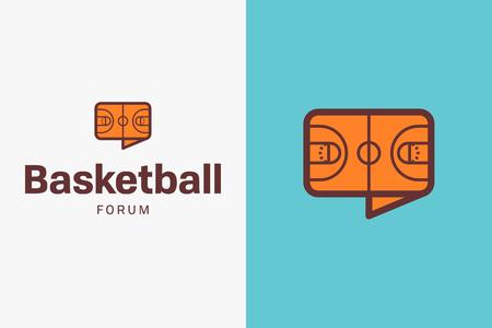 Short basketball logo. Editable vector logo design. Illustration