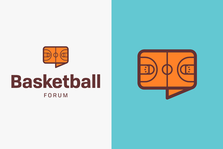 Short basketball logo. Editable vector logo design. 向量圖像