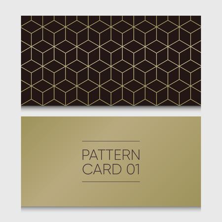Pattern card 01. Background vector design element. Illustration