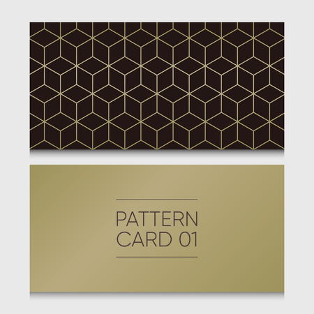 Pattern card 01. Background vector design element. 向量圖像