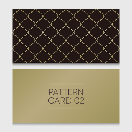 Pattern card 02. Background vector design element.