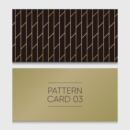 Pattern card 03. Background vector design element. Illustration