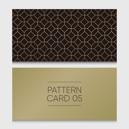 Pattern card 05. Background vector design element.