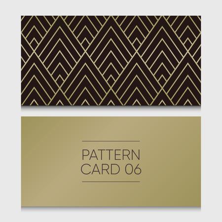 Pattern card 06. Background vector design element.