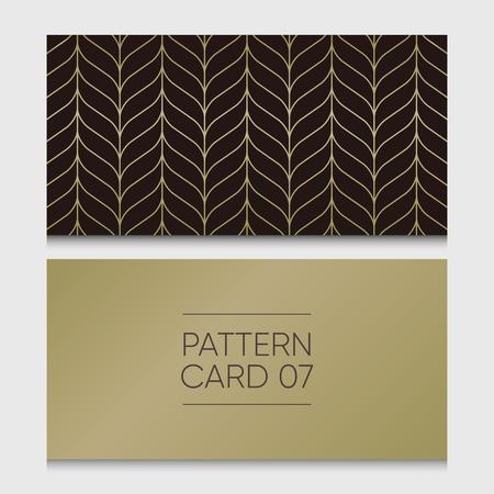 Pattern card 07. Background vector design element. Illustration