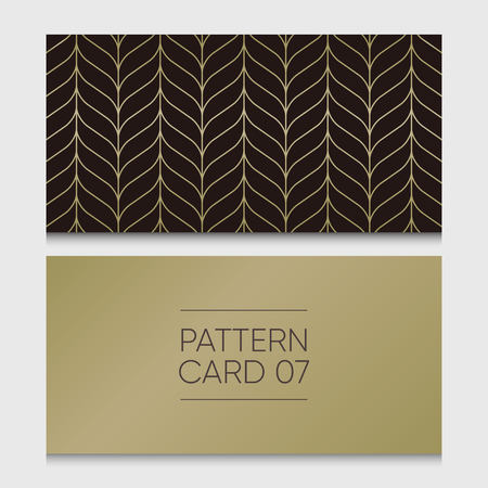 Pattern card 07. Background vector design element. 向量圖像