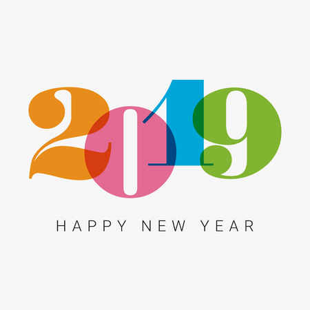 Happy new year 2019 card