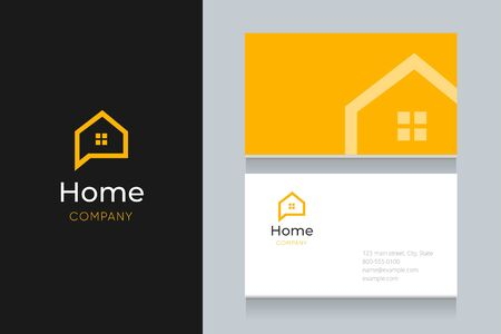 Bubble house with business card template. Vector graphic elements design editable for company and entrepreneur. Standard-Bild - 134139608