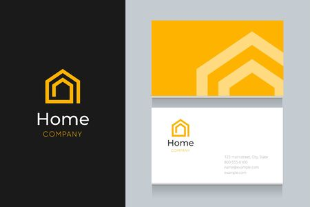 Spiral house with business card template. Vector graphic elements design editable for company and entrepreneur. Standard-Bild - 134139633