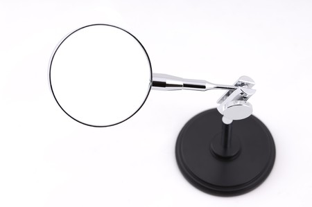 chrome base: Magnifying glass on stand