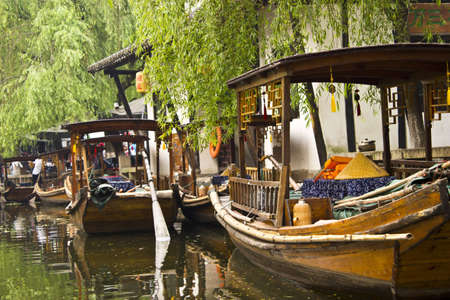 Gondolas in Zhouzhuang, China are an attraction for tourists as well as a way to get around the town for the locals.