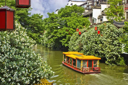Riverboat in Nanjing, China Stock Photo