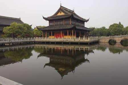 zhouzhuang: Buddhist temple in Zhouzhuang, China