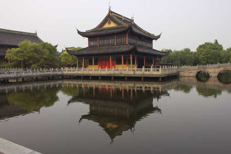Buddhist temple in Zhouzhuang, China