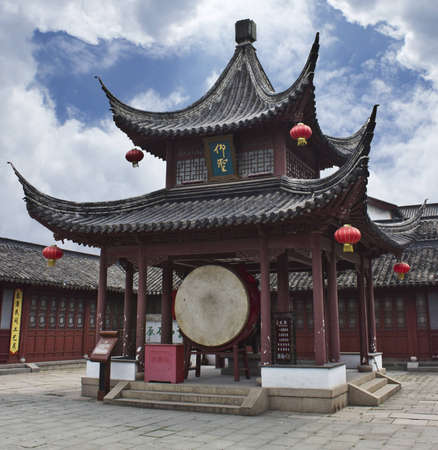 Drum Pavilion in the Nanjing Confucian Temple Stock Photo - 13920522
