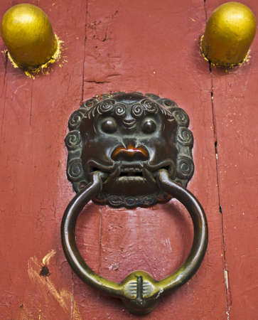 Traditional Chinese Door Knocker Stock Photo - 13920526