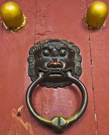 Traditional Chinese Door Knocker Stock Photo - 13920526