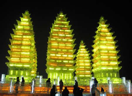 하얼빈 중국에서 얼음 축제에서 얼음 조각