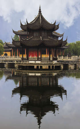 Chinese Pavilion in Zhouzhuang, China Stock Photo - 14125246